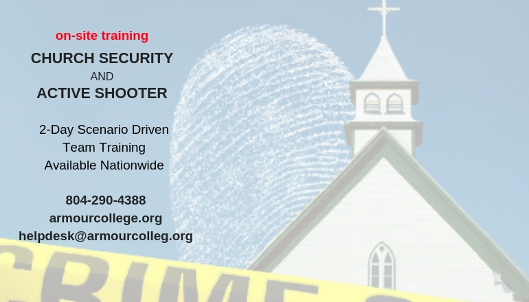 church security and active shooter onsite training